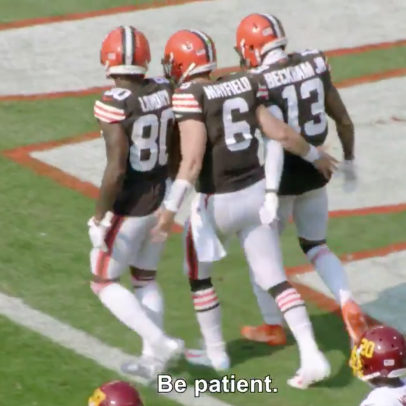 This screenshot sums up just how difficult Baker Mayfield's job is in Cleveland