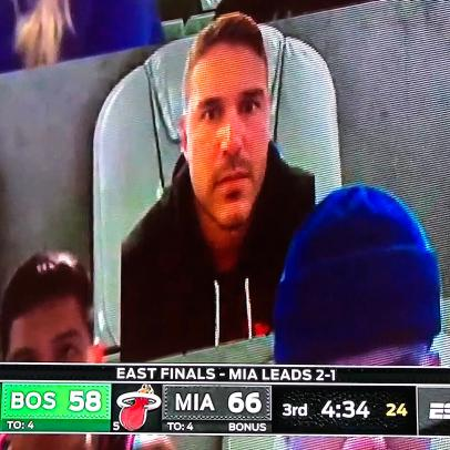 Brooks Koepka showed up to Celtics-Heat on Wednesday night (virtually, of course)