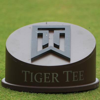 Of course Tiger Woods' new public course features baller tee markers with his trademark logo