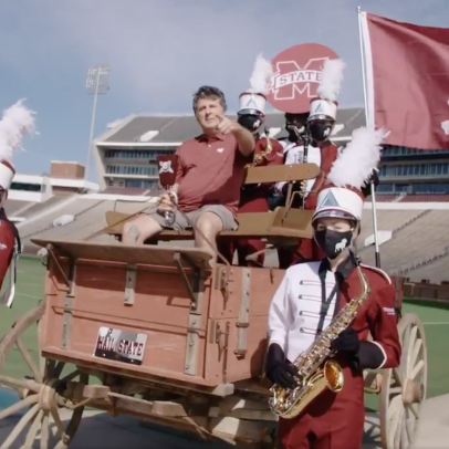 Mississippi State drops incredible Mike Leach promo after taking down LSU, is on the heater of all heaters