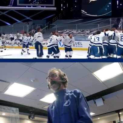 The Tampa Bay Lightning play-by-play guy losing his mind as they win the Stanley Cup is the best hockey call since that one about the miracles
