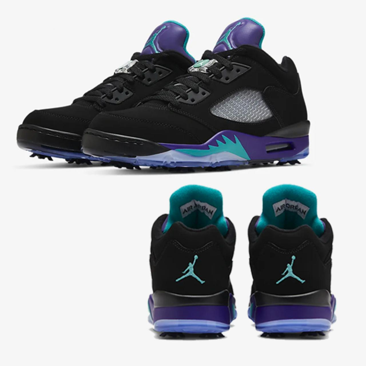 The new 'Purple Grape' Air Jordan 5 Golf Shoes are finally ...