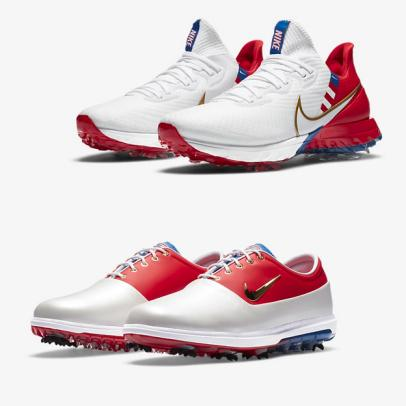 Best New Golf Stuff: Nike releases two red, white and blue NRG golf shoes with bold metallic finishes