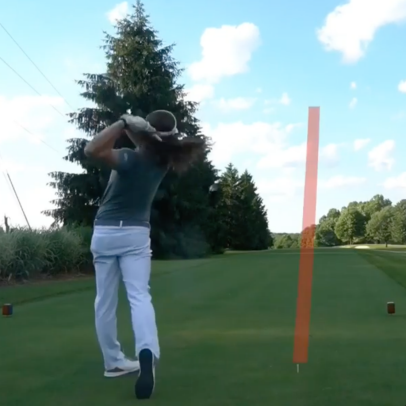 Watch World Long Drive champ Kyle Berkshire bring the PGA Tour's longest par 5 to its knees