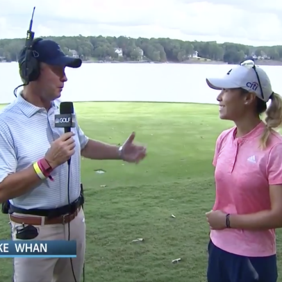 The LPGA commissioner tried working as an on-course commentator—and was actually pretty good