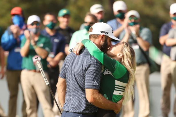 Dustin Johnson (and Paulina Gretzky) make Masters history, a crazy gator sighting, and the greatest leader board updates ever