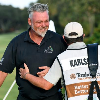 Darren Clarke wins the TimberTech Championship, his first victory since the 2011 British Open