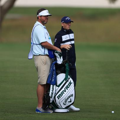 RSM Classic co-leader Matt Wallace had some priceless exchanges with his emergency caddie
