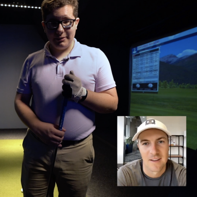 Watch one lucky golfer take a virtual lesson from Jordan Spieth