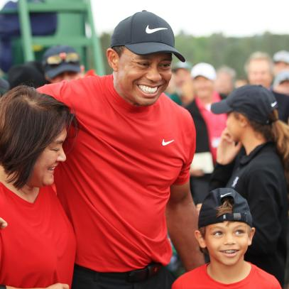 Justin Thomas jokes that Tiger Woods' son Charlie 'talks trash just like his dad'