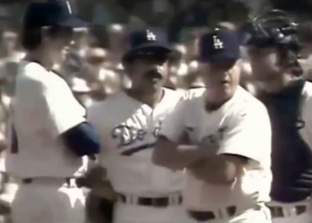 """Where has this video of Tommy Lasorda telling his pitcher """"I'll make the f---ing decisions"""" been all our lives?"""