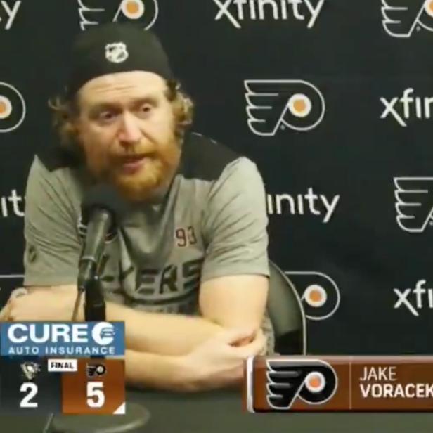 Jakub Voracek absolutely CARVES UP reporter over Zoom, calls him 'little weasel'