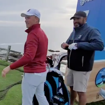 Jordan Spieth pulls off crazy 100-yard shot in what could be a preview of a wild weekend at Pebble Beach