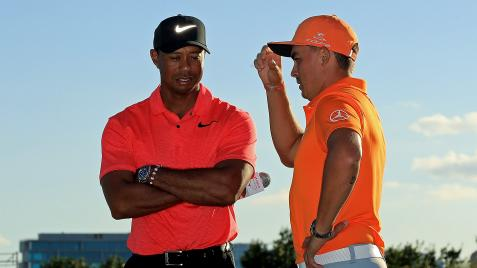 Rickie Fowler on watching the Masters with Tiger Woods: 'He's not lacking any fire'