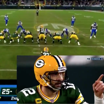 New footage shows Aaron Rodgers, the Babe Ruth of football, calling his long touchdown shot on Saturday