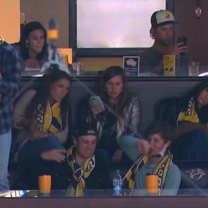The #SB2K crew snuck in a little post-Masters R&R at Tuesday's Nashville Predators game