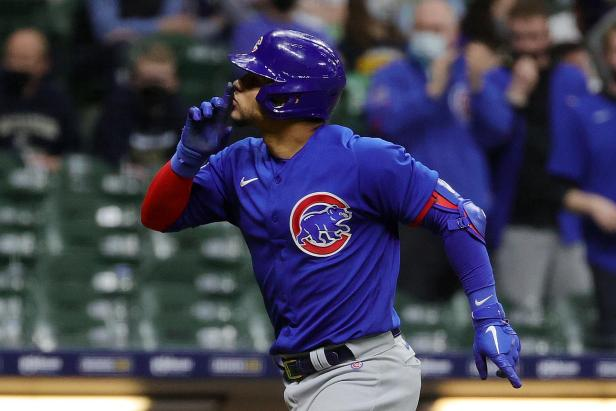After being plunked 12 times by the Milwaukees Brewers over the years, Wilson Contreras finally got his revenge