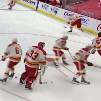 The Calgary Flames should have got right back on the bus after this craptacular warmup on Monday night