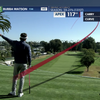 Bubba Watson aiming a mile to the right and still missing left is peak Bubba Watson