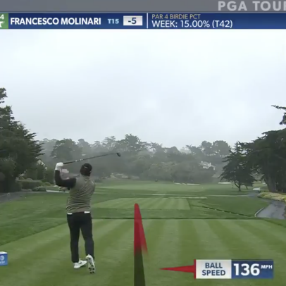 Francesco Molinari stunningly cold topped one off the first tee at Pebble Beach
