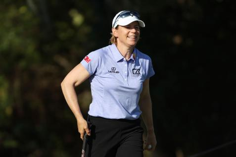 Annika Sorenstam comes away encouraged after playing her first LPGA round since 2008