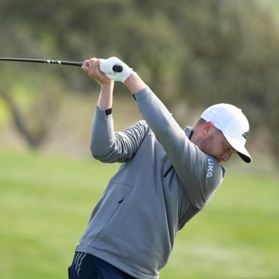 Watch Daniel Berger drive Pebble Beach's short par-4 fourth hole, making impressive history in the process