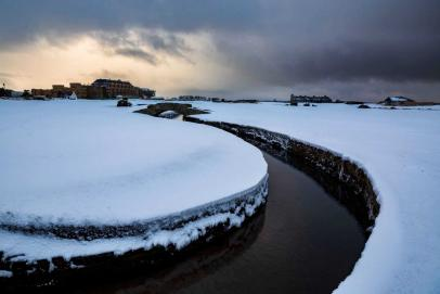 How some of golf's more famous courses look when blanketed with snow