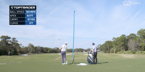 Dustin Johnson's windproof wedge shot