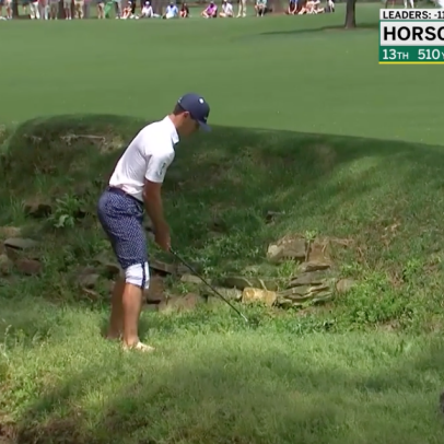 Masters 2021: Billy Horschel can't stop, won't stop playing shots barefoot out of Rae's Creek