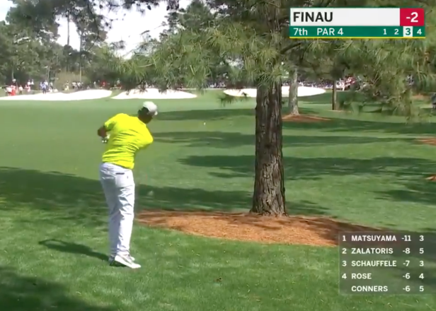 Masters 2021: Tony Finau makes par save of the week, year, possibly century on Sunday at Augusta National