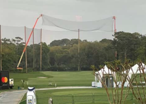 Did the RBC Heritage put up an extra net to stop Bryson's range bombs, only for Bryson to withdraw?
