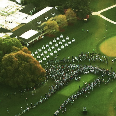 Masters 2021: These overhead pictures give you the best sense yet of how few fans are at Augusta National this week