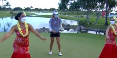 Lydia Ko's golf game is stellar again, but her hula dance game needs work