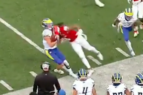 This technically-not late hit in an FCS playoff game could still be considered a murder attempt