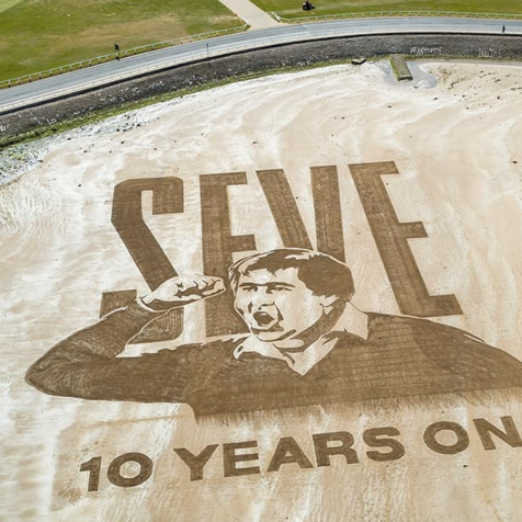 Stunning St. Andrews sand art pays tribute to Seve Ballesteros on 10th anniversary of his death