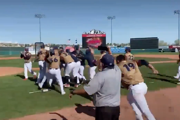 Can we interest you in the first-ever extra-innings home-run-derby walk-off dinger in Pioneer League history?