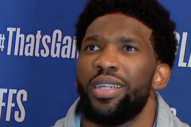 Joel Embiid's reaction to Kawhi's throwdown mid-postgame interview is proof nothing brings the world together like a monster dunk